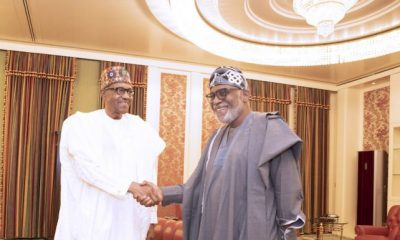 BREAKING: Buhari Meets Akeredolu, Makinde In Aso Villa