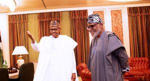 Buhari and Akeredolu 3 300x162 - Ondo 2020: What Buhari Told APC Campaign Committee To Do