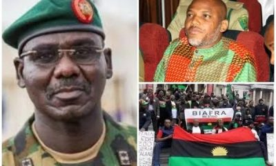 Biafra: Nnamdi Kanu Makes Strong Allegation Against Nigerian Army, Attacks Buratai