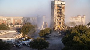 Demolition in Dalas 300x169 - Blasting: The Demolition Of A Tower Ends Badly In Dallas