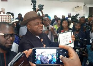 Douye Diri gets INEC certificate of return 300x214 - Bayelsa: Diri Speaks As INEC Issues Certificate Of Return