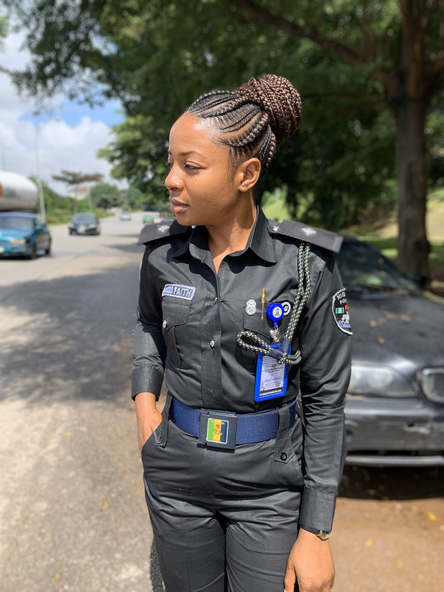 EGSEYt3XYAIvnrn - Meet Faith Jacob , The 'Cutest' Female Police Officer In Nigeria