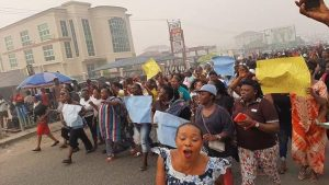EQuXjBFWAAAUQRI 300x169 - Youths Protest Supreme Court Judgement As INEC Declares Diri Winner Of Bayelsa Governorship Election