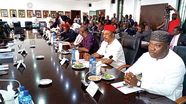 Governor Southeast pix 1 653x365 1 - Amotekun: South East Governors To Launch Regional Security Outfit