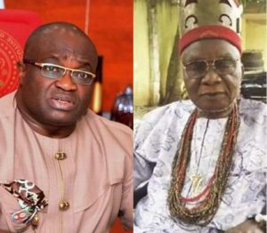 Ikpeazu and Nnamdi Kanu father 300x262 - Biafra: Ikpeazu Takes 'Major Decision' In Abia Over Nnamdi Kanu's Parents Burial