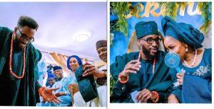 Laolu Osinbajo and parent 300x154 - Osinbajo's Son Holds Traditional Wedding
