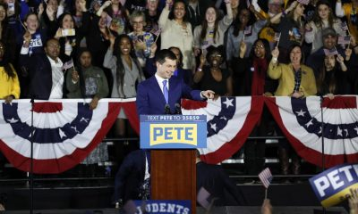 Pete Buttigieg in front of his supporters in Des Moines, Iowa. - All rights reservedAP Photo / Charlie Neibergall-Charlie Neibergall