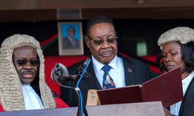 Peter Mutharika sworn in on May 28, 2019 after the presidential election in Malawi.
