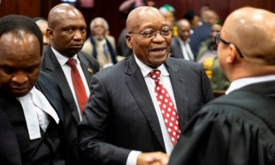 President Zuma leaving the Durban Court of First Instance on June 8, 2018.