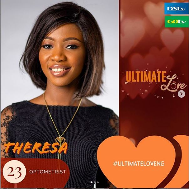 Theresa IG - Profile Of Theresa, Contestant In The 2020 'Ultimate Love' Reality Show