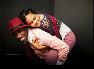 Timi and Busola 300x222 - Busola Dakolo Celebrates Husband with Romantic Valentine Wishes