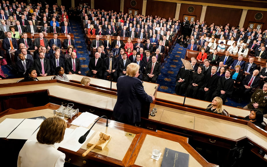 Unlike so many others before me I keep my promises said Donald Trump constantly cut by the standing ovations - Democratic Leader Nancy Pelosi Tears Up Donald Trump's Speech