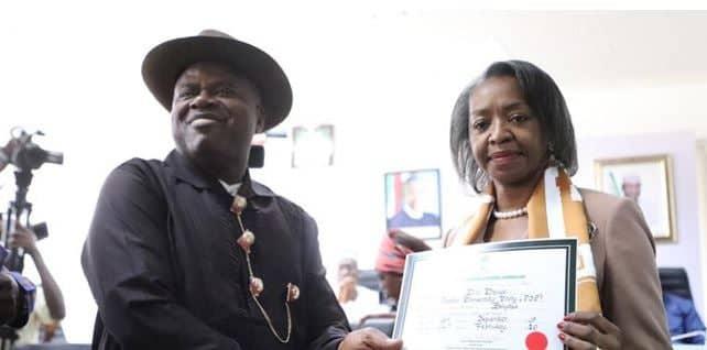WhatsApp Image 2020 02 14 at 12.55.49 PM - Bayelsa State: INEC Presents Certificate Of Return To Douye Diri And His Deputy