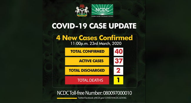 Breaking: Four Additional Cases Of Coronavirus Confirmed In Nigeria