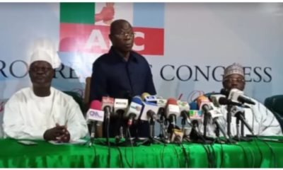 Why I Was Removed As APC National Chairman - Oshiomhole