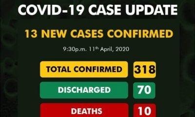 Nigeria Records 13 New Coronavirus Cases, 11 In Lagos