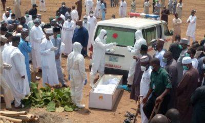 PHOTOS: How Nigerians Violated Social Distancing At Abba Kyari's Burial
