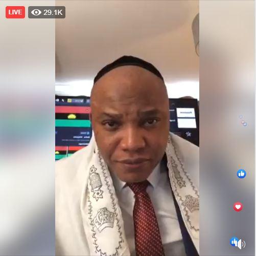 Biafra: Nnamdi Kanu Proves Kemi Olunloyo Wrong, Goes Live (WATCH HERE)