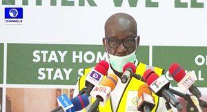 Obaseki COVID 19 300x162 - Edo 2020: Don't Dodge Gov'ship Debate – APC Tells Obaseki