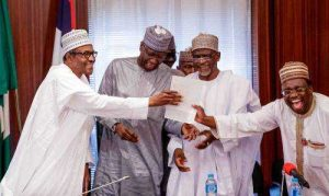 buhari 300x179 - Federal Government Reacts To 'Sacking Of UNILAG VC'