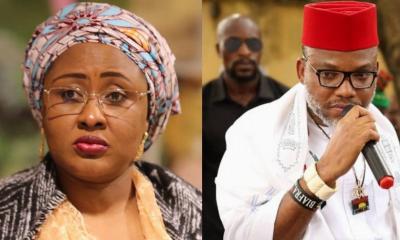 Biafra: Nnamdi Kanu Reveals Aisha Buhari's 'Dangerous Plan'
