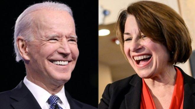 Sen. Amy Klobuchar says she will not be Joe Biden's running mate