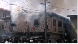 Fire 300x170 - Fire Guts Building In Mushin, Lagos