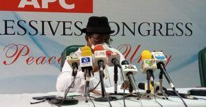 APC Insists Giadom's NEC Meeting Illegal Despite Buhari's Endorsement