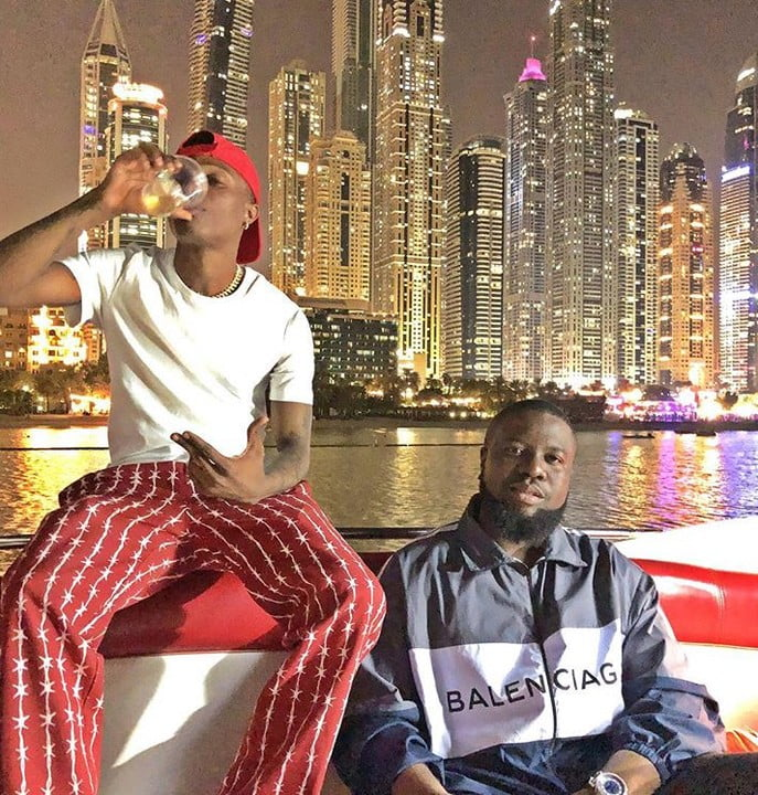 Hushpuppi Hangs Out With Wizkid In Dubai