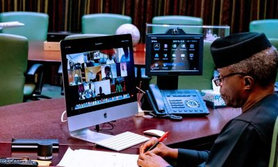 Osinbajo Presides Over FEC Meeting As Buhari Arrives London