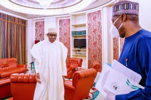 buhari AND ZULUM 11 300x200 - Insecurity: President Buhari Meets Borno State Governor, Zulum
