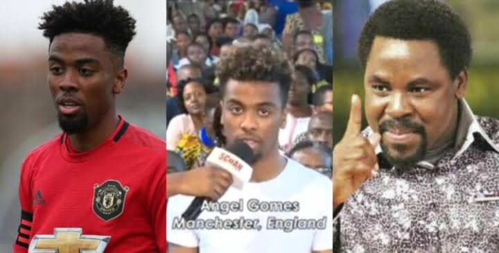 Viral Video: Manchester United Player, Angel Gomes Visits TB Joshua For  Healing | Naija News