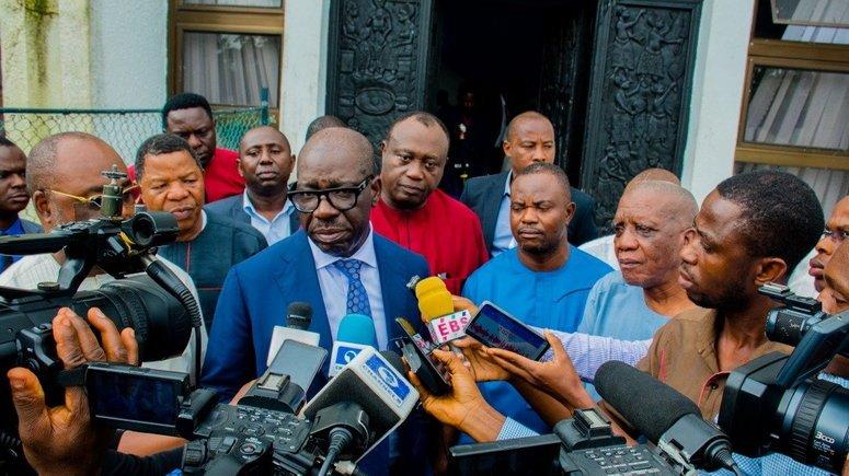 JUST IN: Obaseki, Shaibu, Speaker Okiye, Storm Edo Assembly