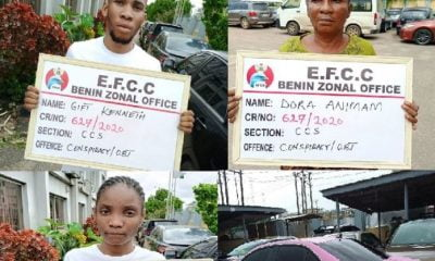EFCC Arrests Son, Mother, Girlfriend For Internet Fraud (Photo)