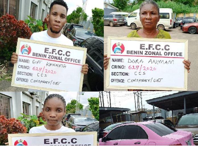 EFCC Arrests Son, Mother, Girlfriend For Internet Fraud (Photo)