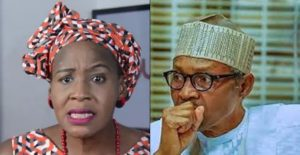 Kemi Olunloyo and Buhari 300x155 - God Punish You – Kemi Olunloyo Tells Buhari