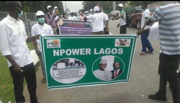 Just In: Aggrieved Npower Beneficiaries Protest In Abuja, Make Demands (Photos)