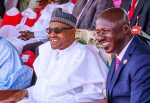 President Muhammadu Buhari and Ibrahim Magu EFCC Chairman 300x207 - Just In: President Buhari Aware, And Approved Magu's EFCC Investigation