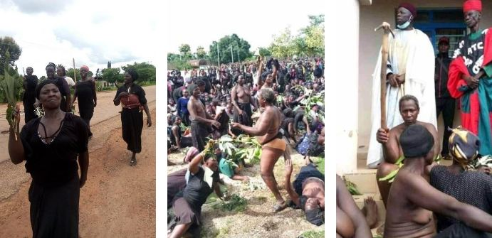 Women Protest Naked Against El-Rufai Over Killings In Southern Kaduna (Photos)