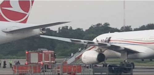 Breaking: Fear As Two Planes Collide At Lagos Airport