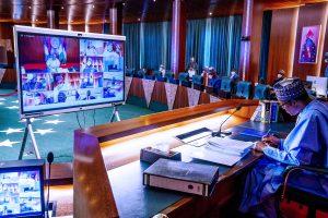 bUHARI fec 300x200 - JUST IN: Buhari In Video Meeting With European Council President Over Okonjo Iweala