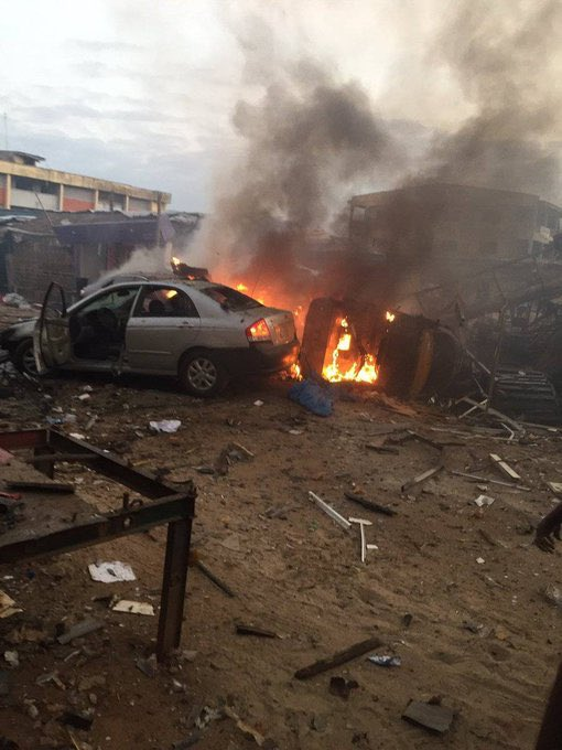Breaking: Cooking Gas Explodes In Ajao Estate, Two Killed (Video)