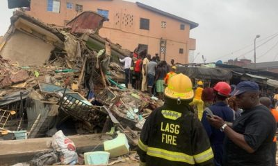 Three-Storey Building Collapses In Lagos