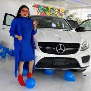 118471121 337335300646429 4374970628828271226 n 1 300x300 - Photo: Bobrisky Gift Self Brand New Mercedes