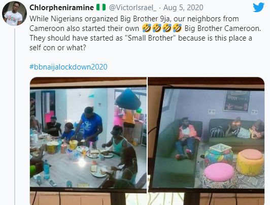 5f2bacaa309ee - Photos: Nigerians Mock Cameroonians As Photos Of Their Own BigBrother Show Emerges