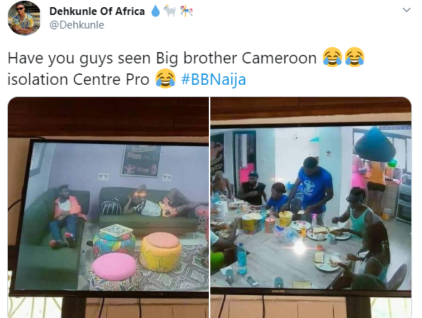 5f2baea189f7f - Photos: Nigerians Mock Cameroonians As Photos Of Their Own BigBrother Show Emerges