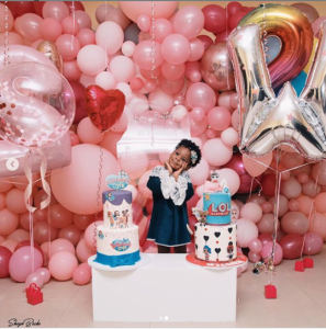 5ff605ed1c9ba6150119070f8df22ca6 297x300 - See Beautiful Pictures Of Patoranking's Daughter Birthday