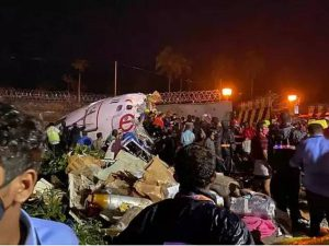 Aircraft Crash 5 300x225 - 16 Dead, 123 Severely Injured As Flight Carrying Stranded Citizens Crash-lands At Calicut Airport (Photos)