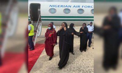 Aisha Buhari Returns From Dubai, Says Medical Tourism Should Be Reduced