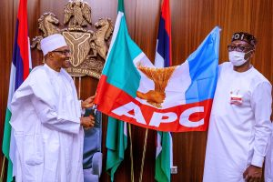 Buhari and Iyamu 1 300x200 - Edo 2020: What Buhari Told Ize-Iyamu To Do After Hosting Him In Aso Rock